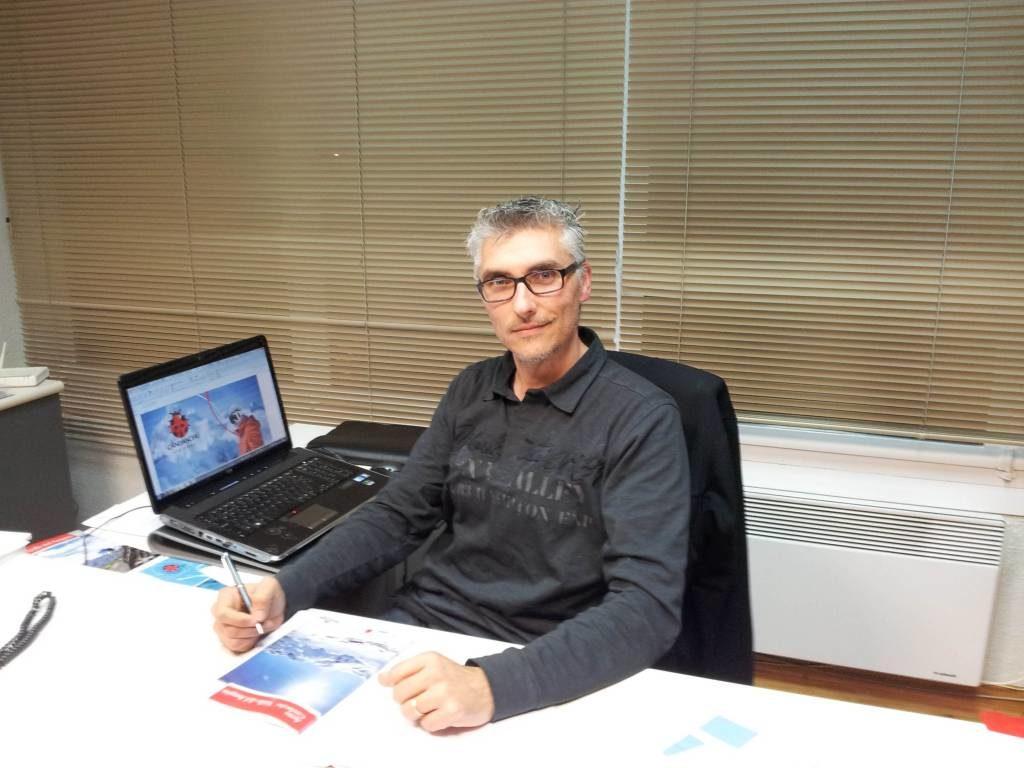 Pere Gómez i González, en su despacho
