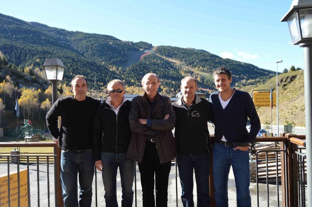 Jordi Pujol, Janez Fleré, Conrad Blanch, Markus Murmman y Carles Visa.
