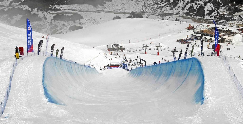El snowpark de Sierra Nevada diseña la línea más larga de Europa