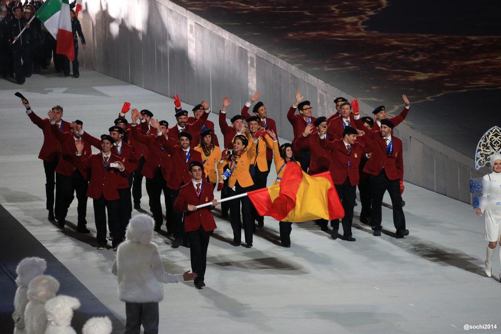Maite Fandos también ha querido apoyar a los 20 deportistas españoles, el mayor número hasta ahora en unos Juegos de Invierno