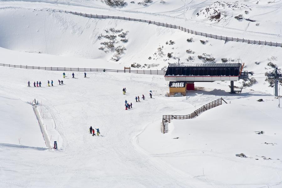 Zona de llegada del Telesilla Llana El Fitu, en Fuentes de Invierno