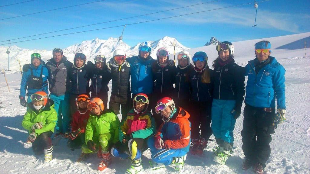 Concentración de los integrantes de la Federación Andaluza Deportes de Invierno en Saas Fee