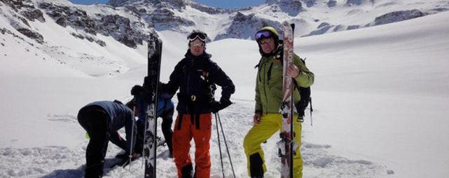 Luis Bárcenas, de vacaciones esquiando