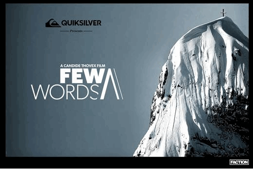 VÍDEO: Few Words – A Candide Thovex Film – Full movie