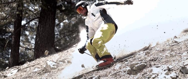 VÍDEO: Esquiando una California castigada por la sequía