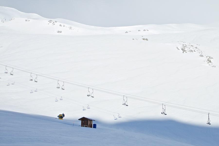 Telesilla Onofre y Debutantes de Cebolledo, tras uno de los temporales del mes de febrero.
