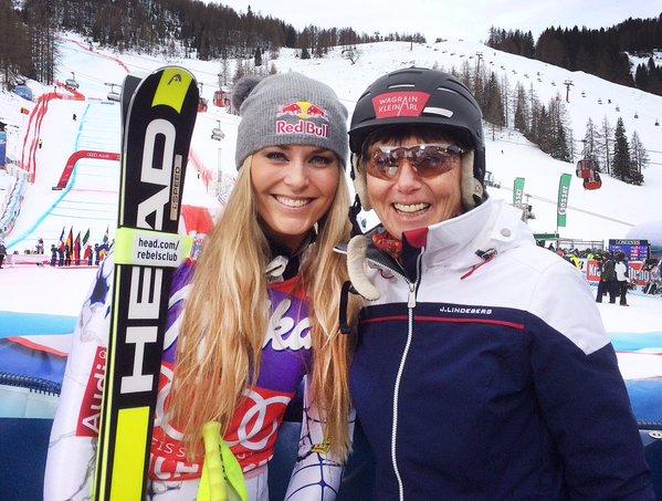 Lindsey Vonn acecha a Lara Gut e iguala el récord de Annemarie Moser-Proell