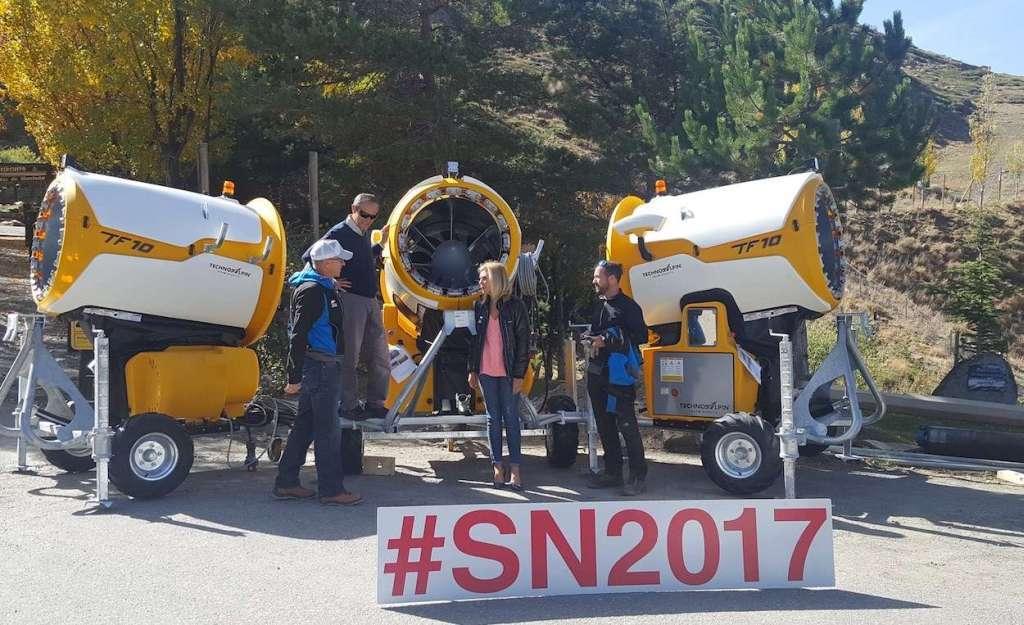SN2017 recibe tres 'cañones' de última generación en el acuerdo de patrocinio con TechnoAlpin