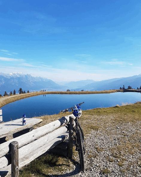 Svindal practicando mountain bike