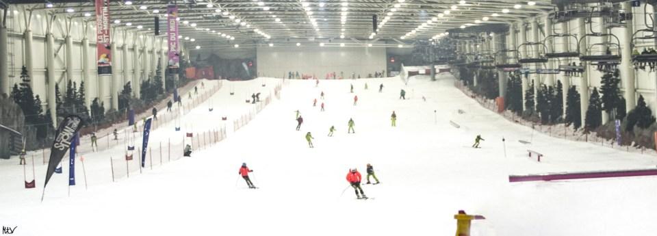 La pista de Madrid SnowZone, homologada por la RFEDI y por la FMDI para celebrar competiciones de esquí alpino