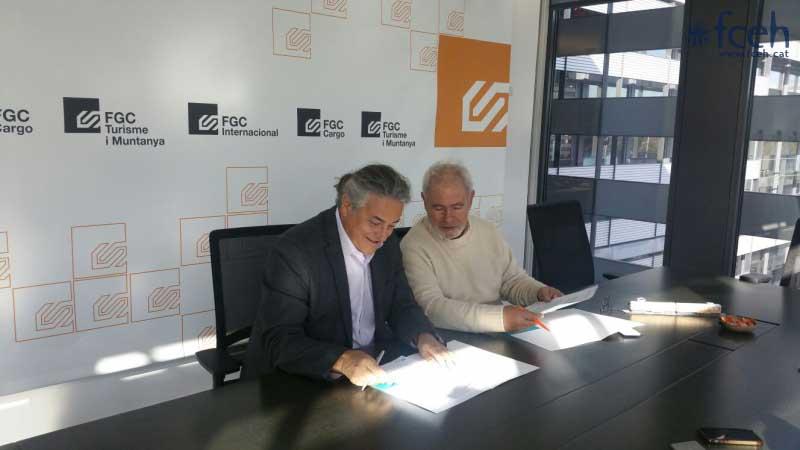 El Grupo FGC renueva el compromiso con la FCEH y la promoción del esquí