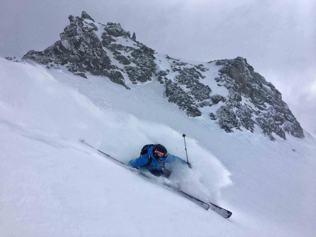 Aymar Navarro en un descenso