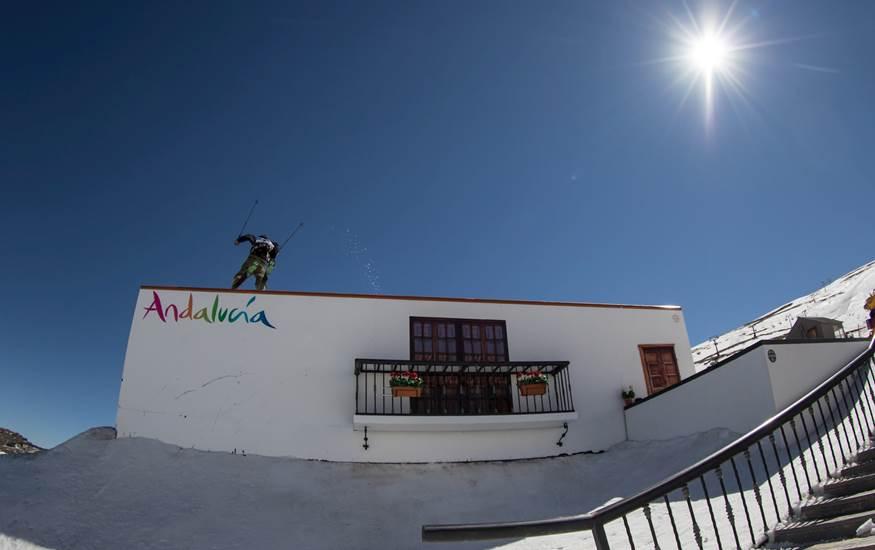 Espectacular imagen del slopestyle