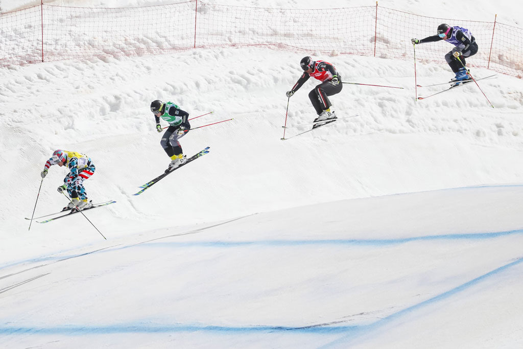 El ski cross es espectacular