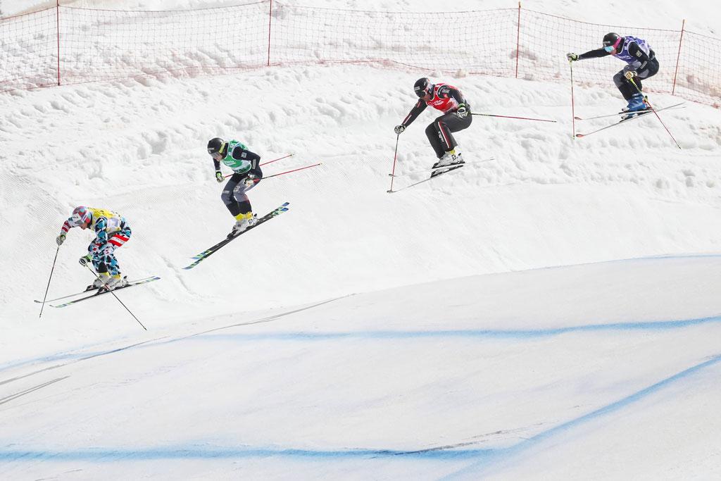 El ski cross es espectacular
