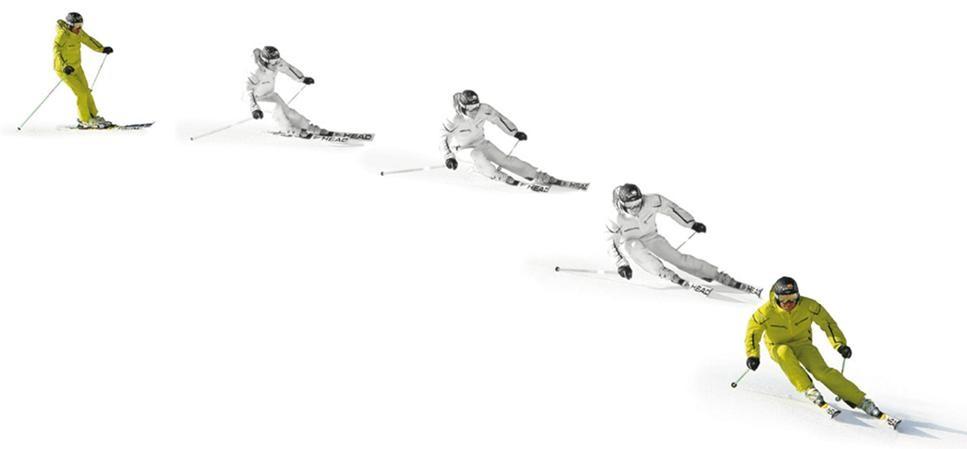 Tecnica esqui inclinacion y la angulacion 3