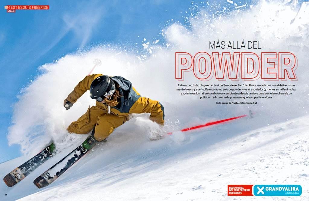 Test Esquís Freeride Solo Nieve