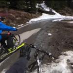 Bici con esquís