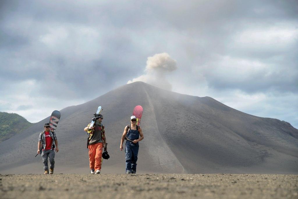 esquiar en un volcán