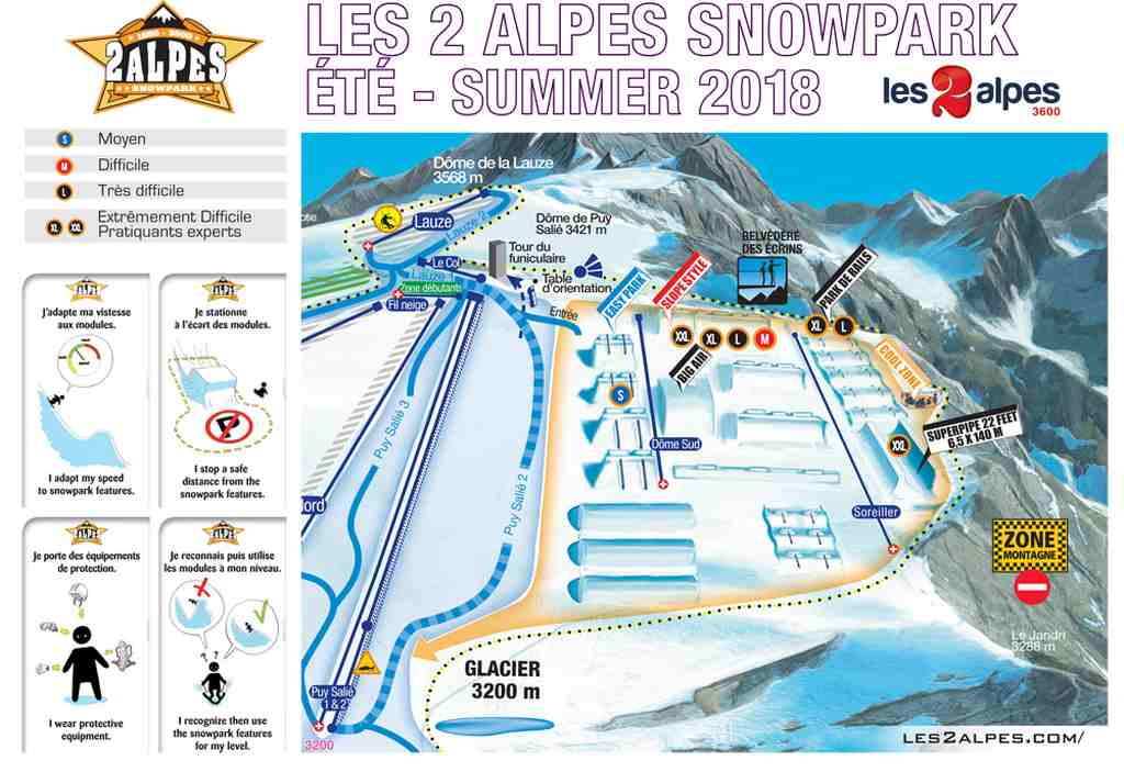 snowpark les 2 alpes