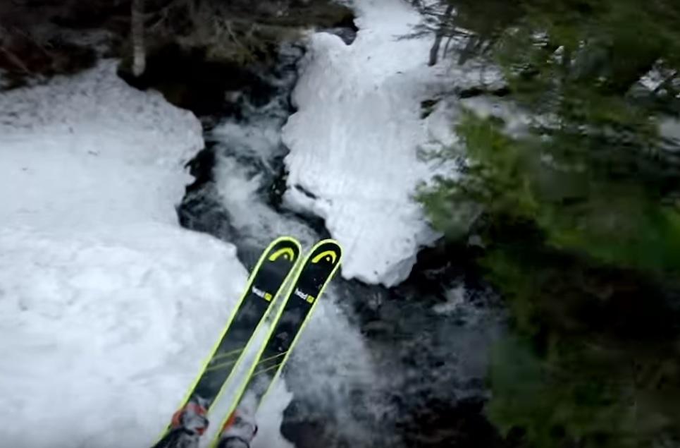 Tjäder convierte el esquí entre árboles en un arte