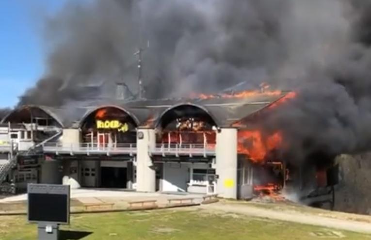 incendio en el teleférico Grands Montets de Chamonix