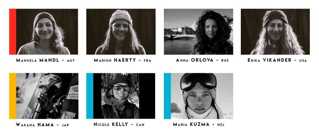 Alineación FWT 2019 snowboard mujeres