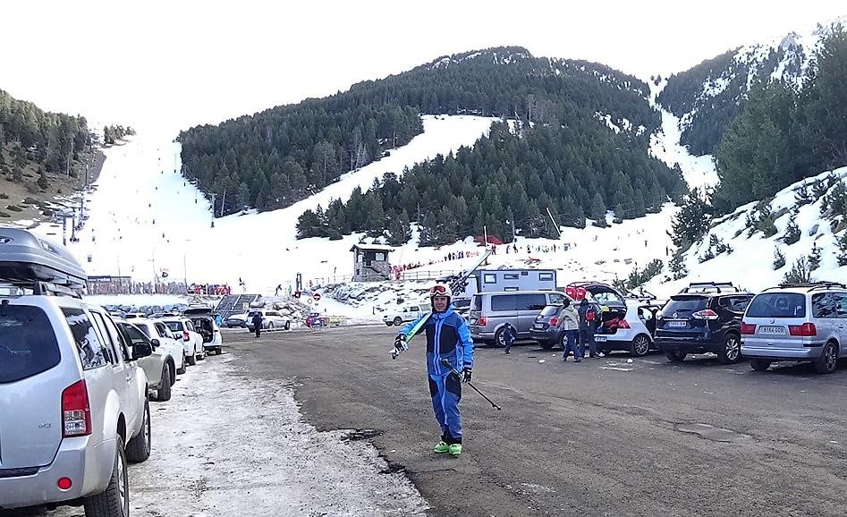 esquiar en el puente