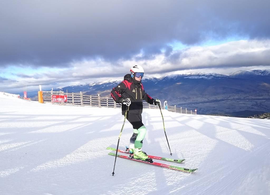 esquí de competición de masters