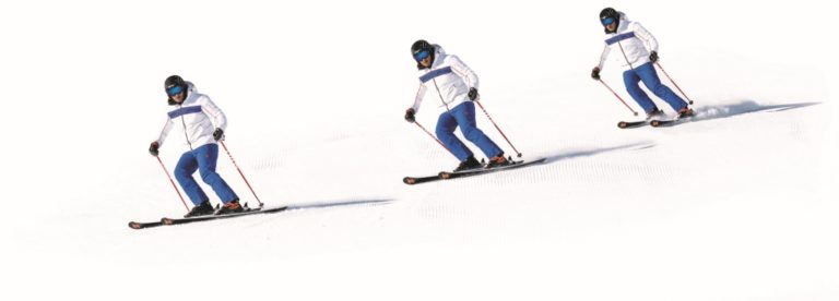 Técnica de esquí: Contrarrotar, ¿movimiento o posición?