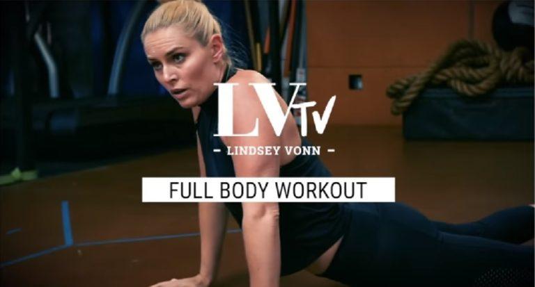 Entrenando con Lindsey Vonn: Circuito para trabajar todo el cuerpo