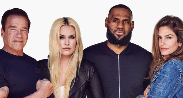 Lindsey Vonn, Lebron James,  Schwarzenegger y Cindy Crowford crean Ladder