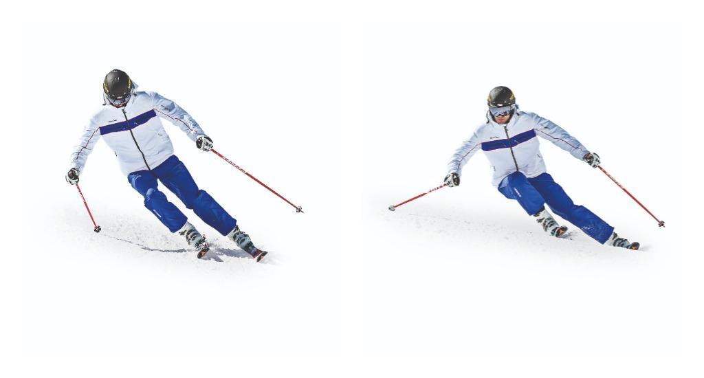 Técnica de esquí Mirar lejos mientras esquiamos