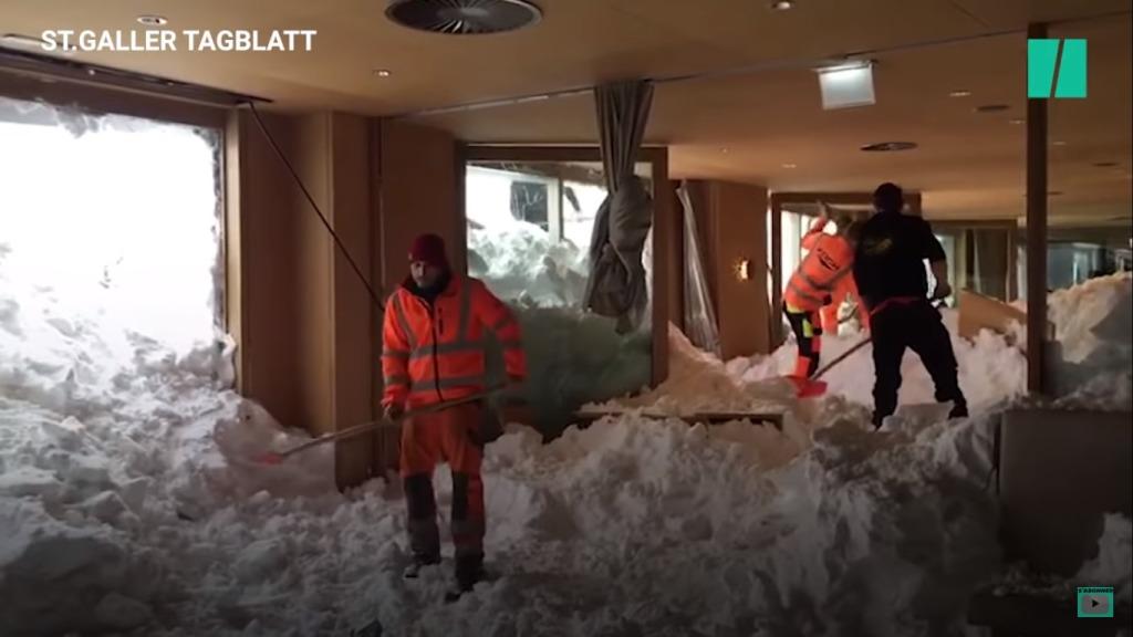 avalancha hotel Suiza