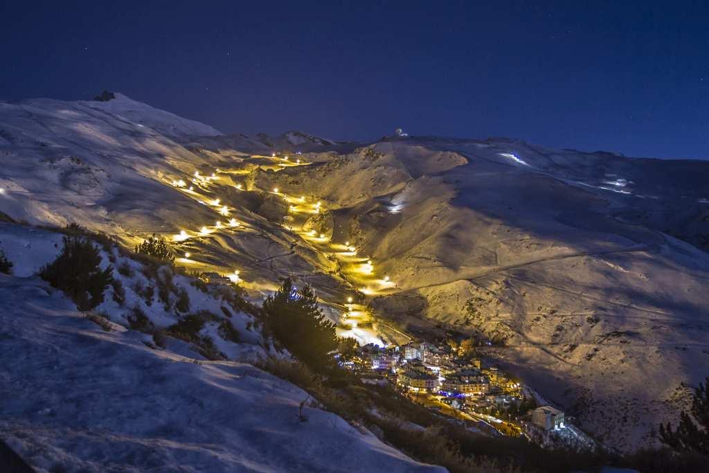 esquí nocturno España