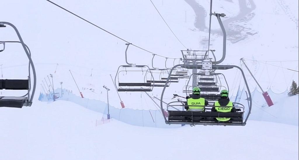 vídeo esquí ciegos