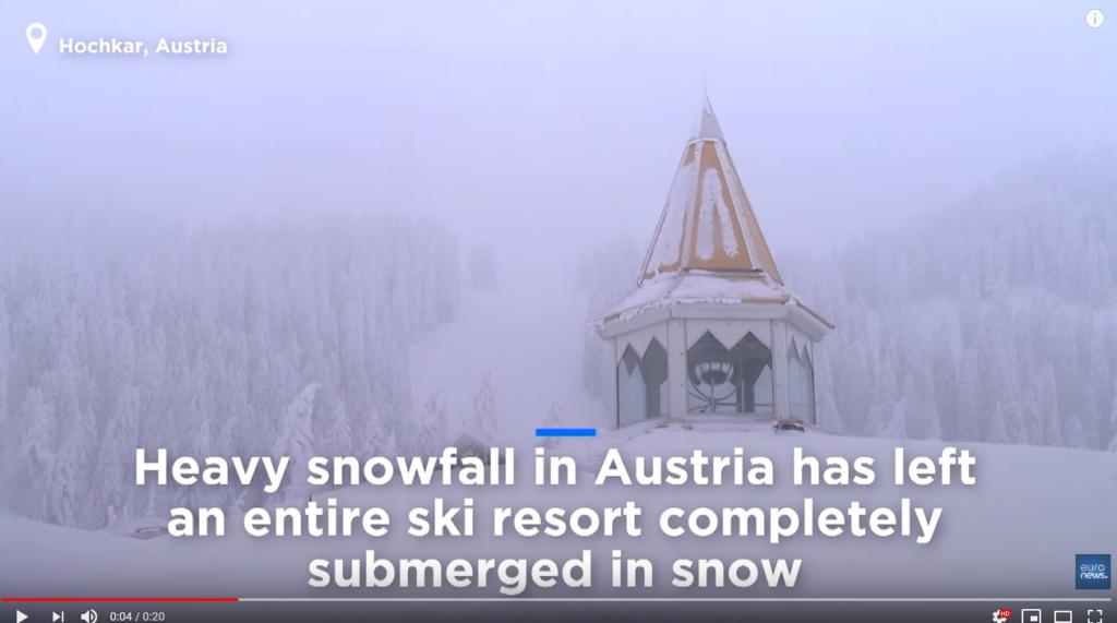 estación esquí sepultada