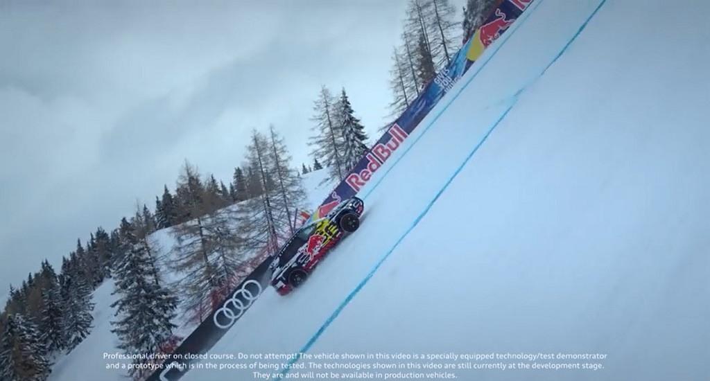 Audi e-tron pista esquí