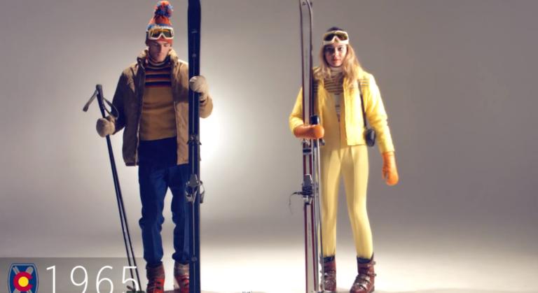 La evolución de la ropa de esquí en 6 minutos