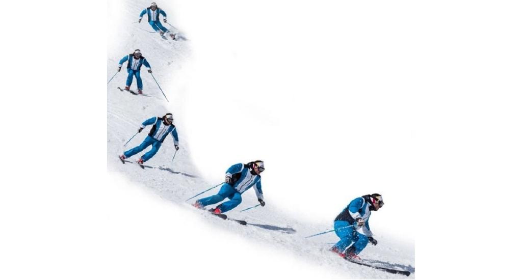 técnica esquí en continuo movimiento