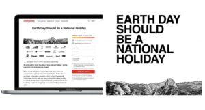 The North Face en pie para que el Día Internacional de la Tierra sea festivo internacional