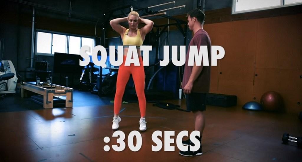 entrenamiento glúteos y piernas Lindsey Vonn