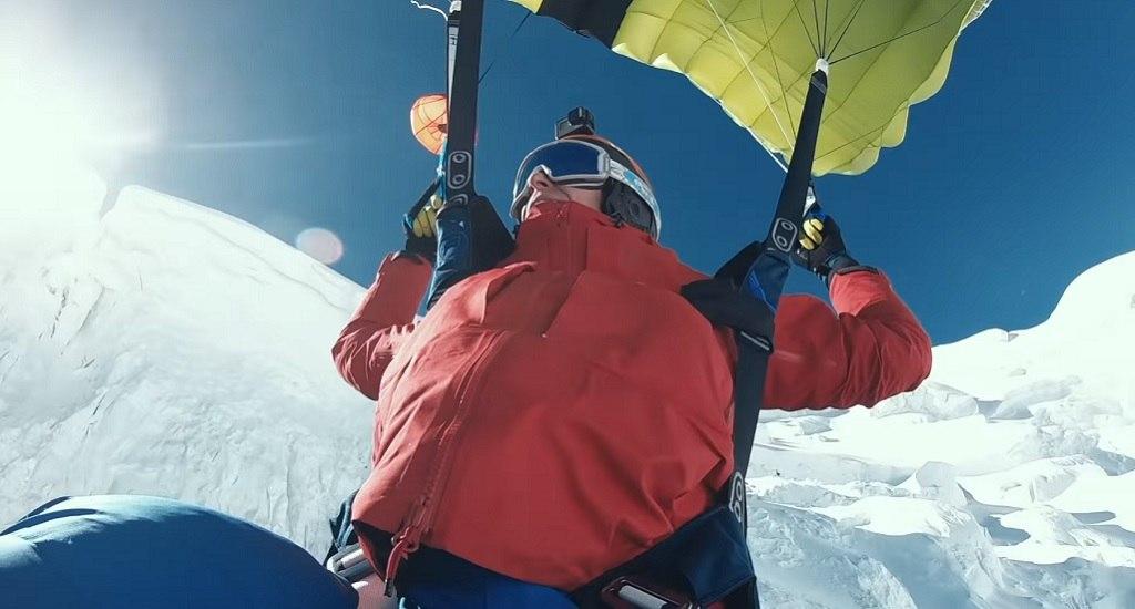 salto base Matthias Giraud Mont Blanc