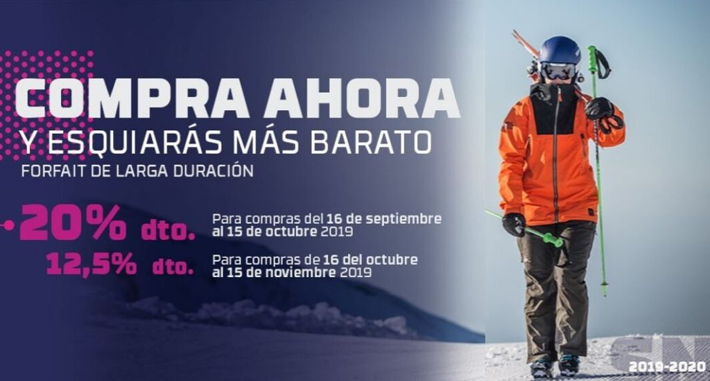 Venta anticipada forfaits Sierra Nevada 2019-2020