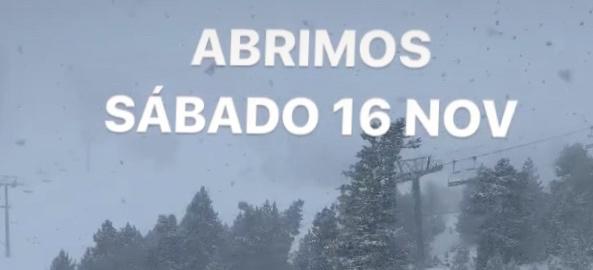 Abre Ordino-Arcalís. Sábado 16 de noviembre.