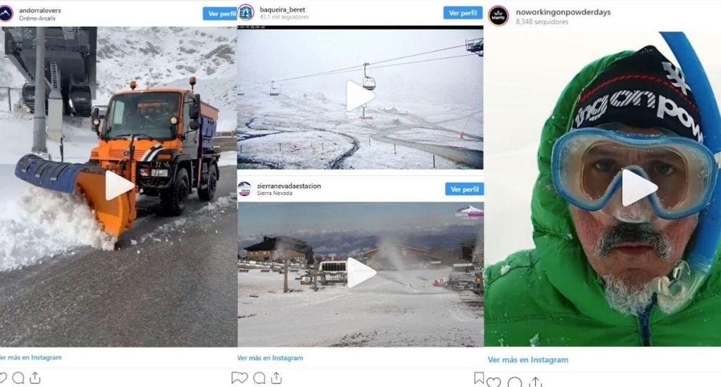 Vídeos nevadas noviembre 2019