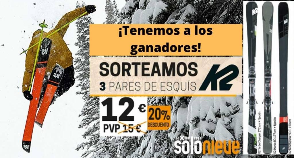 Ganadores Sorteo Esquis K2