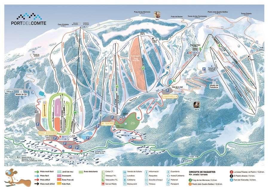 Mapa Pistas Port del Comte