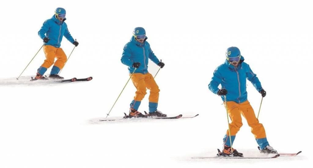 Esquiar con el tronco