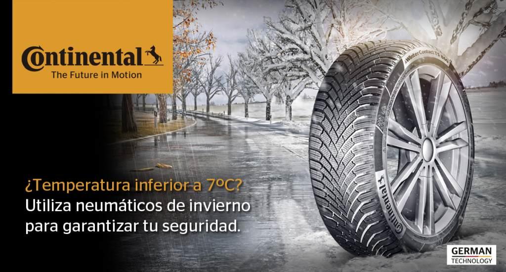 Continental ventajas neumáticos invierno